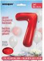 Red Glitz 34 inch Number Balloon - 7