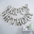 Pick and Mix Bunting - Balloon - Happy Birthday - Silver