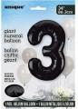 Black Glitz 34 inch Number Balloon - 3
