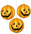 Decorative Hanging 3D Pumpkins (Pack Of 3)