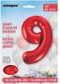 Red Glitz 34 inch Number Balloon - 9