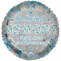 In Living Memory Blue Rememberance Balloon 18