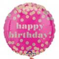 Dotty Holographic Happy Birthday Standard Foil Balloon