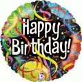 Happy Birthday Party Streamers Foil Balloon