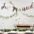 Beautiful Botanics Backdrop - Just Married - Rose Gold