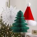 Vintage Noel Honeycomb -  Tree, Hat & Snowflake