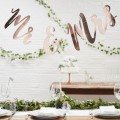 Beautiful Botanics Backdrop - Mr and Mrs - Rose Gold