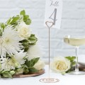 Beautiful Botanics  Table Number Stands - Rose Gold Glitter