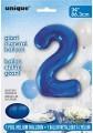 Blue Glitz 34 inch Number Balloon - 2