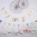 Pick and Mix Bunting - Happy 18th Birthday - Gold