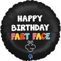 Happy Birthday Fart Face Foil Balloon