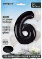 Black Glitz 34 inch Number Balloon - 6