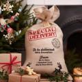 Vintage Noel Hessian Santa Sack