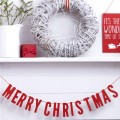 Cosy Christmas Bunting - Wooden - Merry Christmas - Red