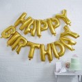Pick and Mix Bunting - Balloon - Happy Birthday - Gold