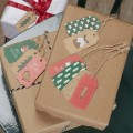 Christmas Patterns Luggage Tags