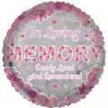In Living Memory Pink Rememberance Balloon 18
