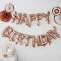 Pick & Mix - Rose Gold Balloon Bunting - Happy birthday - Rose Gold