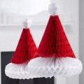 Vintage Noel Honeycomb - Santa Hats