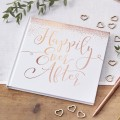 Beautiful Botanics  Guest Book - Happily Ever After - Rose Gold